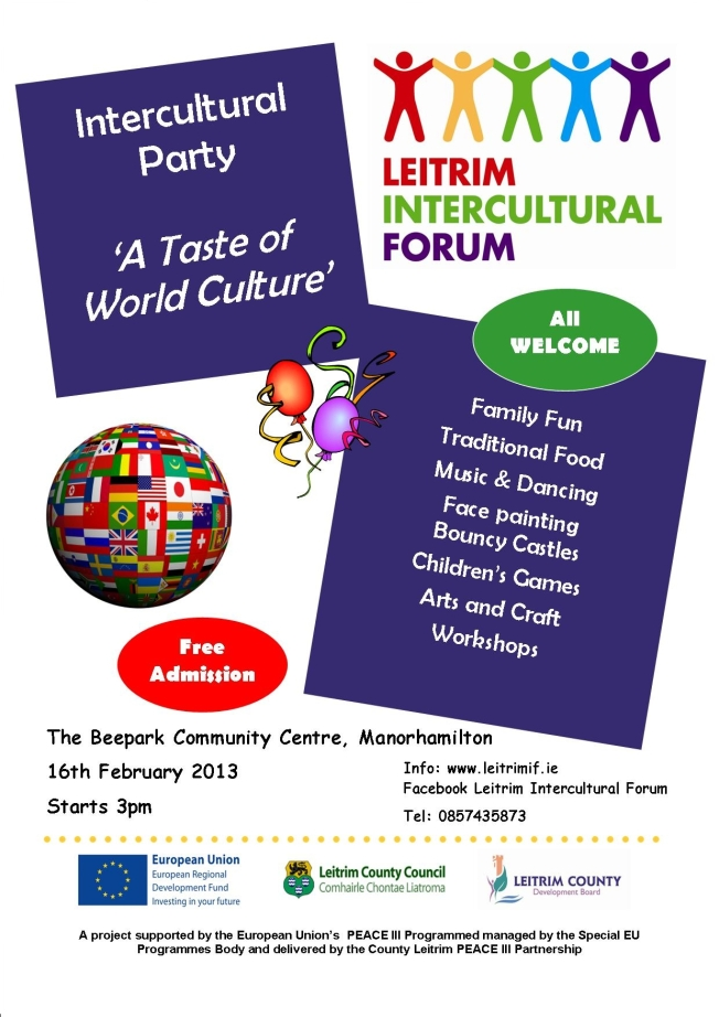 A Taste of World Culture - Manorhamilton Launch Party Feb 2013